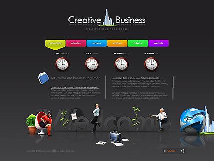 Creative Business website template free 011501212016