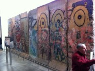 iPhone photo of west side of Berlin Wall at Newseum