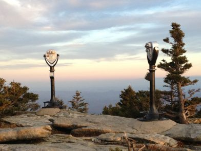 Lookout machines on top of Grandfather Mountain
