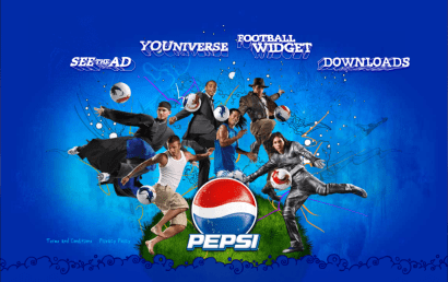 Image of Pepsi Universe Football Flash Marketing Site