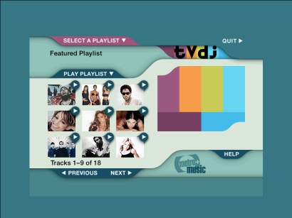 TVDJ Screens