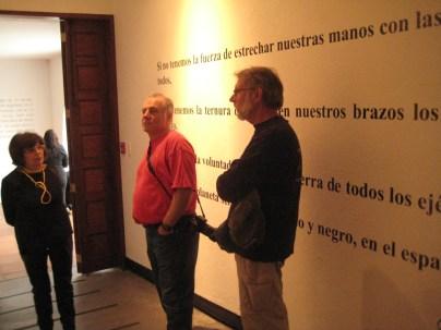 Photo of Tony Zeoli aking the tour at Casa Museo de Guayasamin