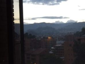 Evening view from our Cuenca apartment