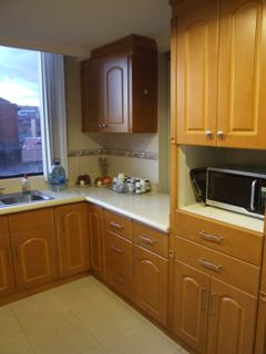 Another view of kitchen in our Cuenca apartment