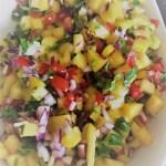 pineapple salsa close-up