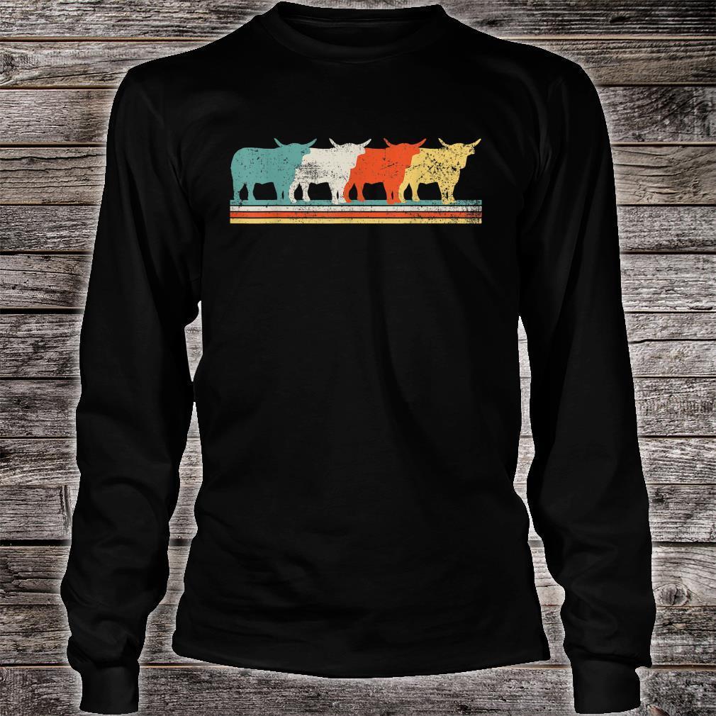 Highland Cow Scottish Vintage Shirt long sleeved