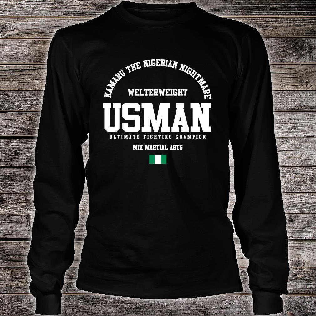 Kamaru The Nigerian Nightmare Usman Gym Welterweight Shirt long sleeved