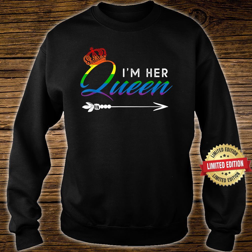 Matching Lesbian Couple Her Queen Girlfriend Pride LGBT Shirt sweater