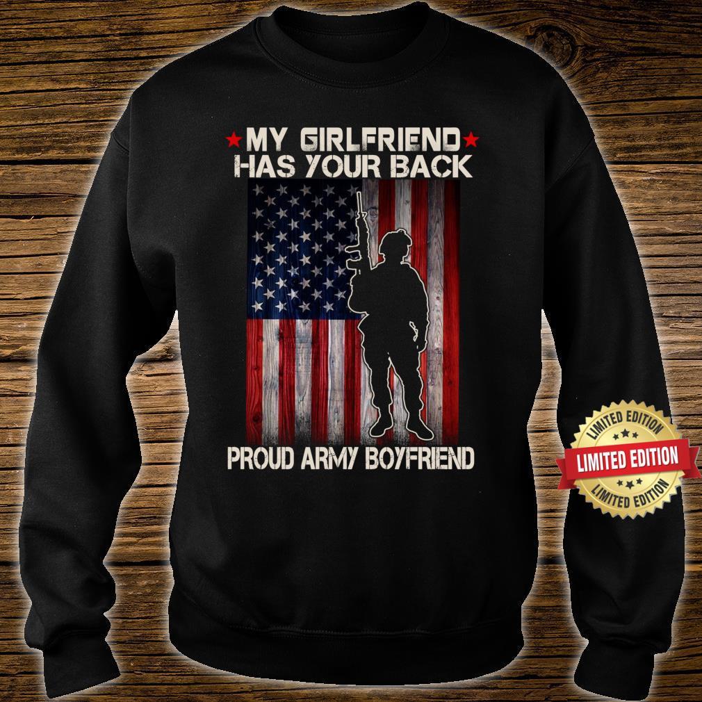 My Girlfriend Has Your Back Proud Army Boyfriend Military Shirt sweater