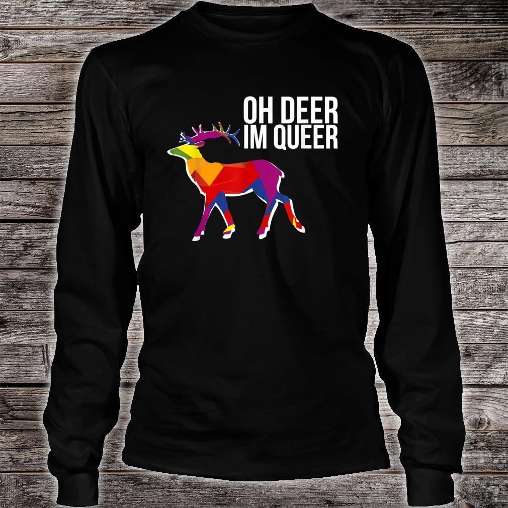 Oh Deer Im Queer Transgender Queer LGBTQ+ Love Equality Bi Shirt long sleeved