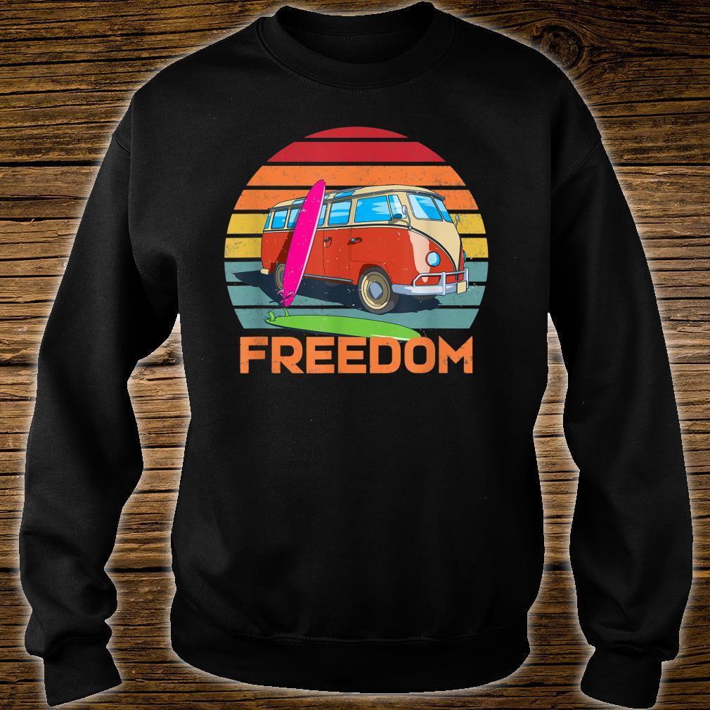 Retro Camper Surfer Van Life Outdoor Boondocking Freedom Shirt sweater