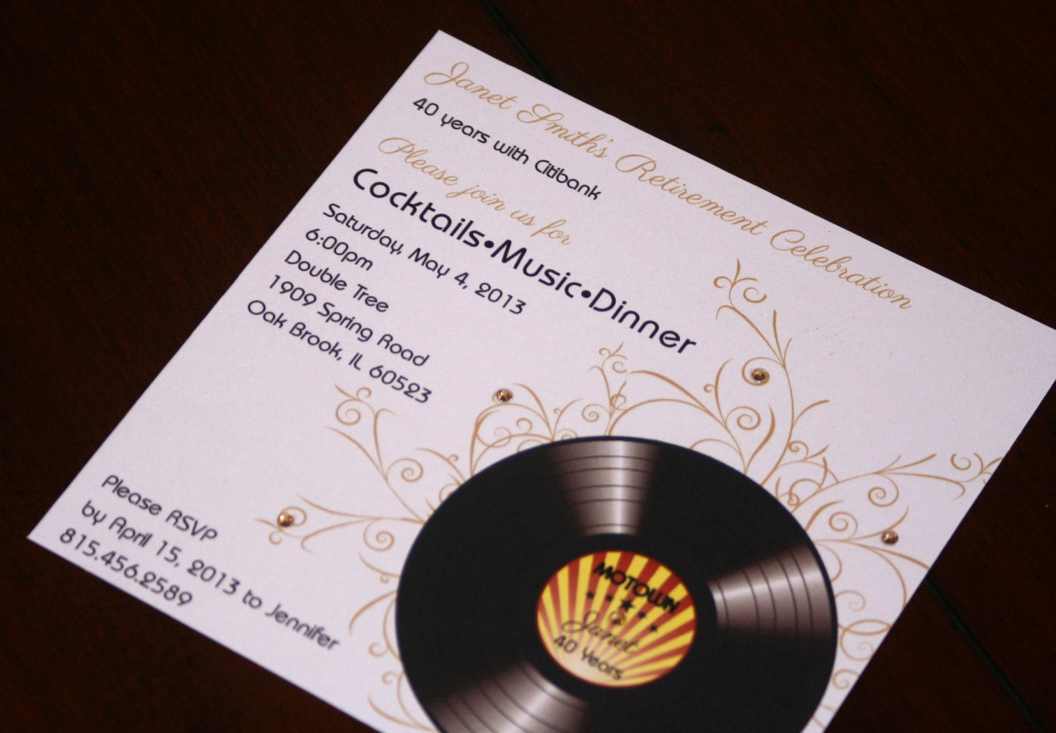 Motown Birthday Invitations Too Chic & Little Shab