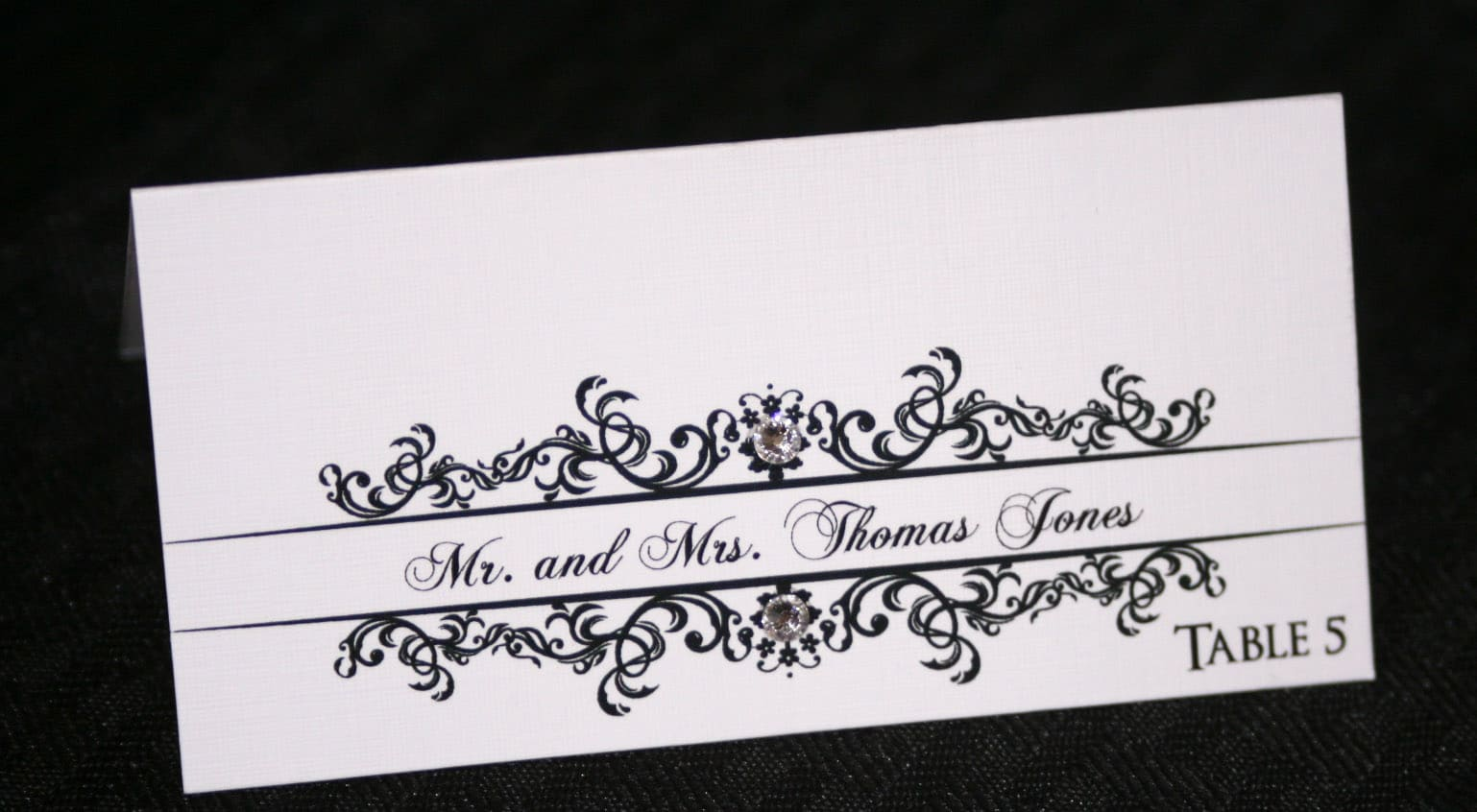 Classic Wedding Place Cards  Too Chic  Little Shab Design Studio Inc