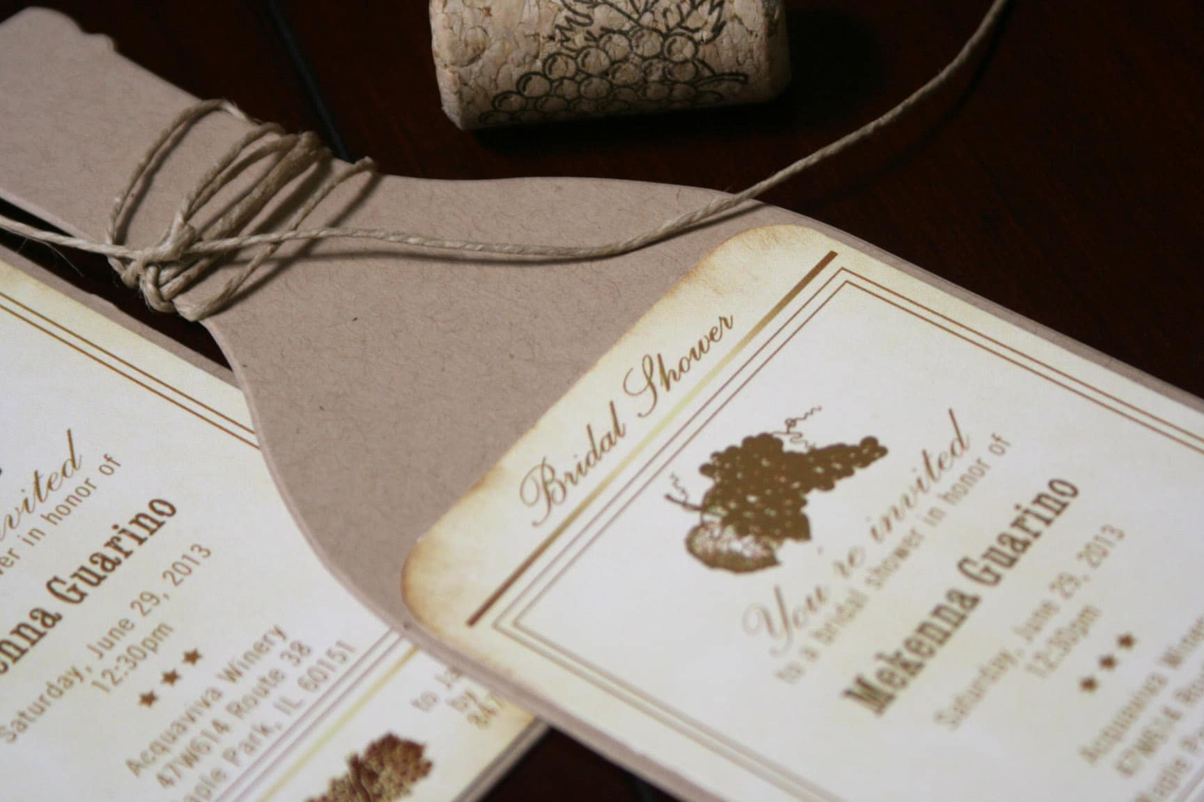 Wine Bottle Bridal Shower Invitations  Too Chic  Little