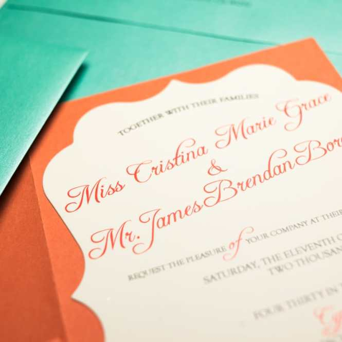 C And Turquoise Wedding Invitations Too Chic Little