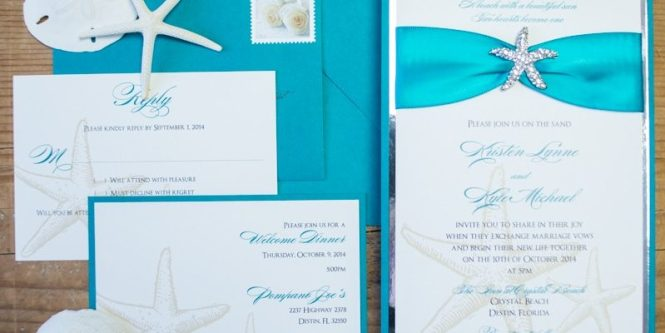 Teal Beach Wedding Invitations Too Chic Little Shab