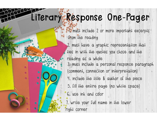Literary Response One Pager