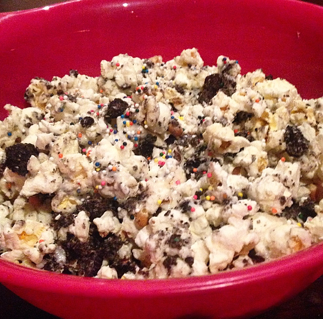 DIY BirthdayCake Oreo Popcorn Recipe Too Damn Young
