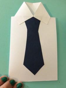 Father's Day card glue collar2