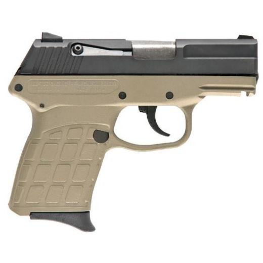Keltec Pf9 9mm Subcompact Pistol With Tan Frame, Black
