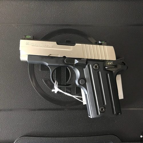 small resolution of sig sauer p238 380 acp pistol with two tone finish x green sights stainless slide black alloy frame 6rd sig sauer 238 380 sp 1