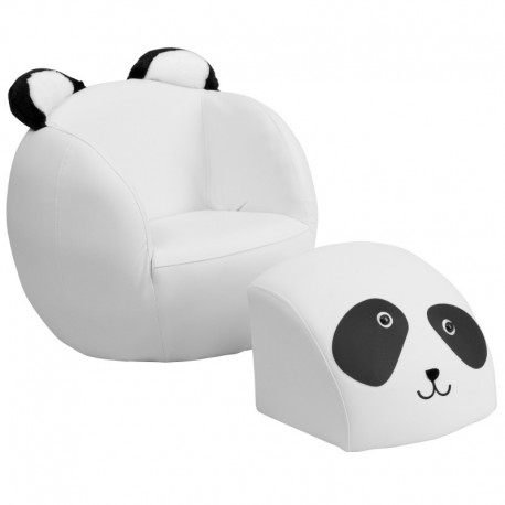 panda bean bag chair wooden ladder back kitchen chairs mfo kids and footstool