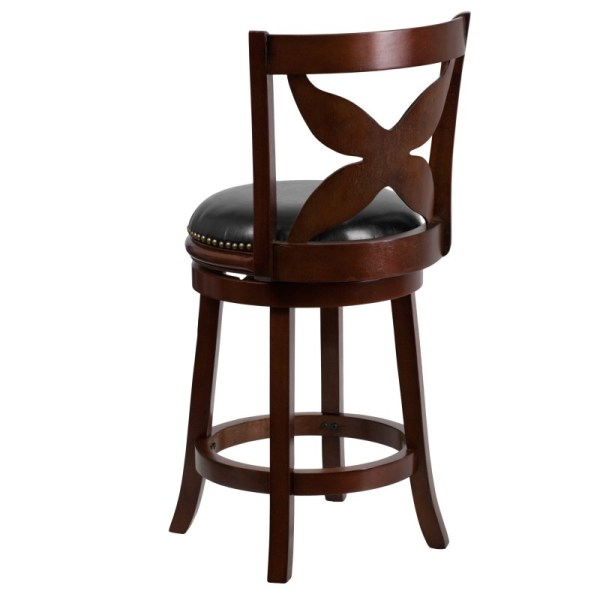 Cherry Wood Counter Height Bar Stools