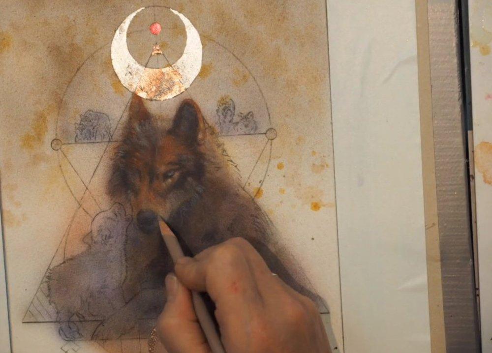 Neilsen, Wolf Token work-in-progress   Too Far Gone