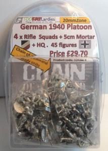 1940 German Platoon - 20mmZone figures