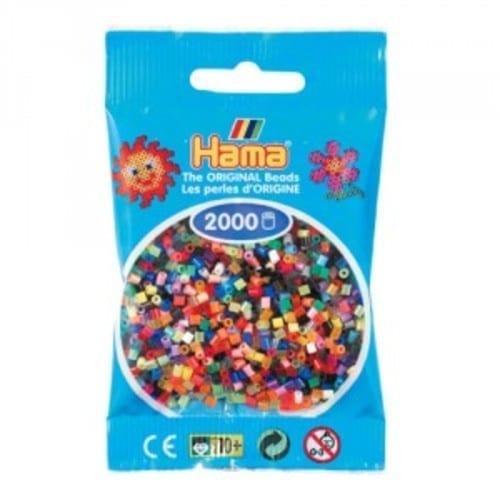 Hamma Beads Cuentas Hamma Hamma Didacticos Paquete 2000 Piezas Colores Varios Tamaño Mediano