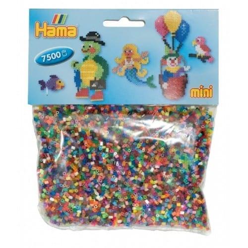 Hamma Beads Cuentas Hamma Hamma Didacticos Paquete 7500 Piezas Color Mix Tamaño Mini