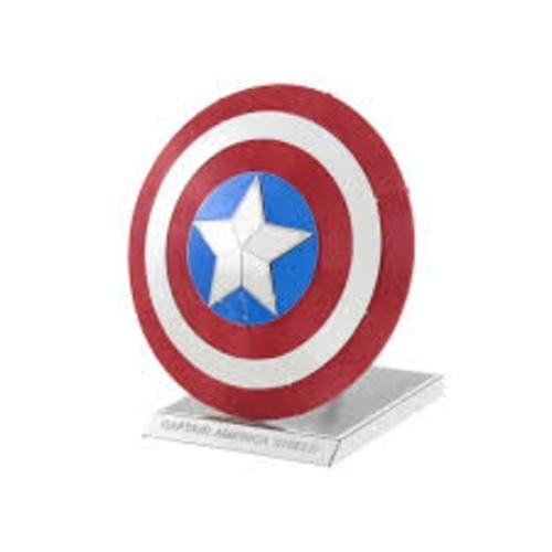 Model Kit Capitán América Fascinations Metal Earth Capitán América Marvel Shield