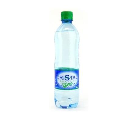 Botella de Agua Cristal con Gas 600ml