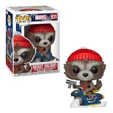 Figura Rocket Funko POP Guardianes de la Galaxia Marvel Navideño