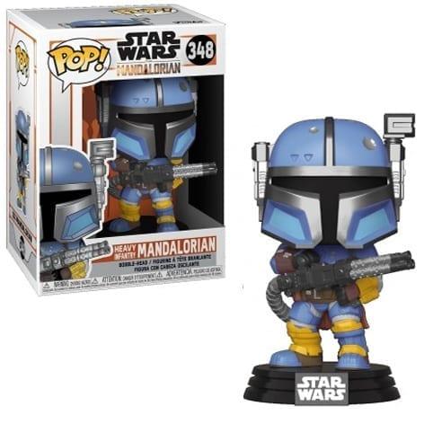 Figura Mandaloriano Funko POP Mandalorian Star Wars de Infanteria Pesada