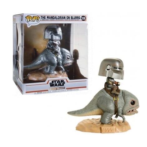 Figura Mandaloriano Funko POP Rides Mandalorian Star Wars sobre Blurrg