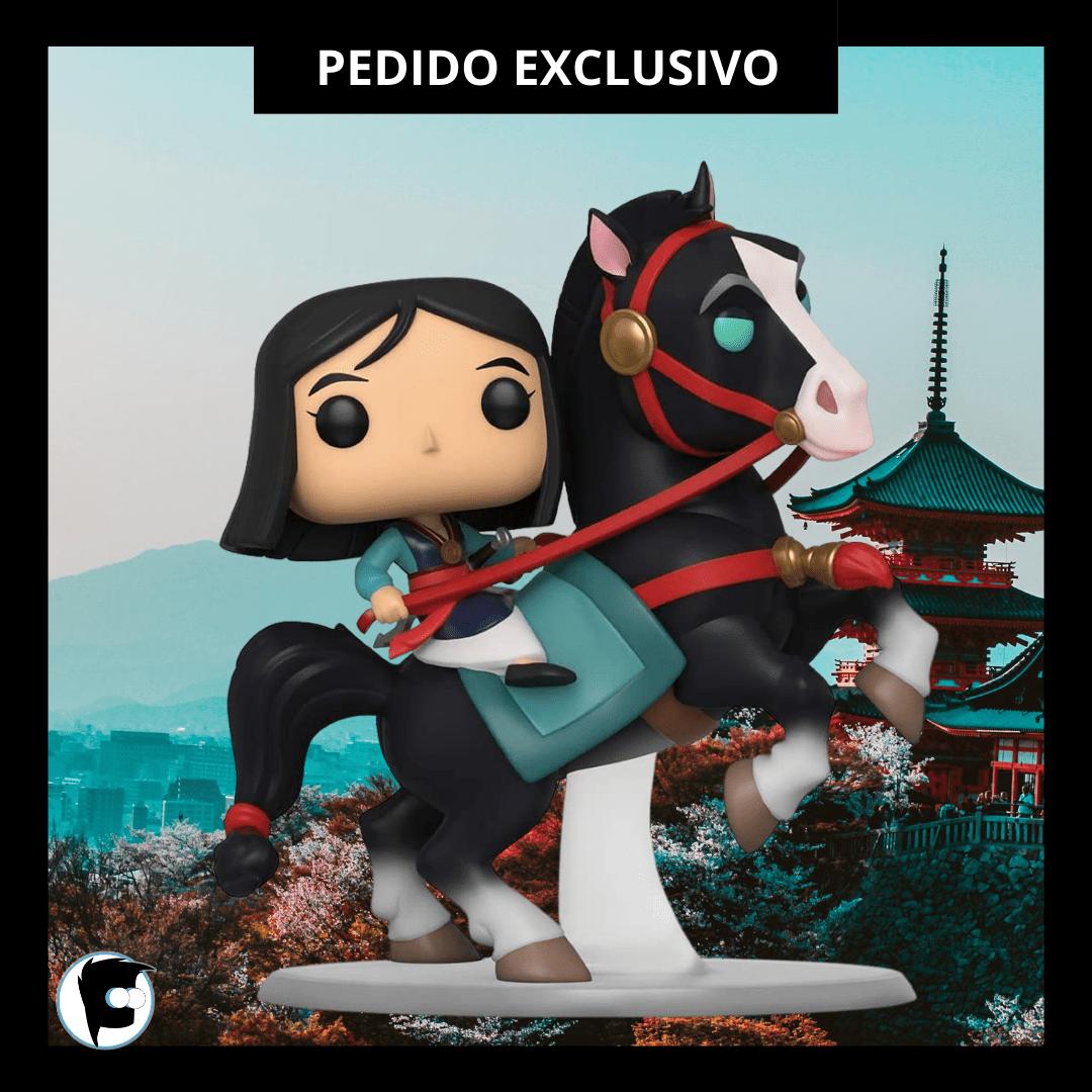 Figura Mulan Funko POP Rides Disney Sobre Khan