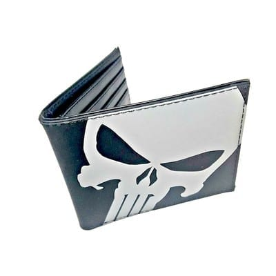 Billetera de Goma Punisher PT Punisher Marvel Negra Calavera Gris (Copia)
