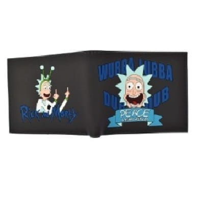 Billetera de Goma Wubba Lubba Dub Dub Peace Among Worlds PT Rick and Morty Animados (Copia)