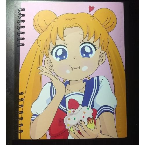 Cuaderno Cuadriculado Sailor Moon Posim Sailor Moon Anime Pequeño 19x25