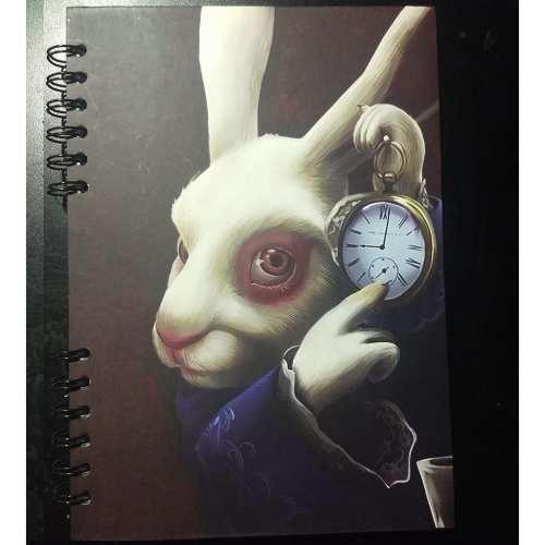 Cuaderno Cuadriculado Conejo Posim Alicia en el País de las Maravillas Disney Pequeño 19x25