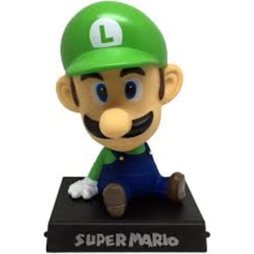 """Figura Luigi SHD Mario Bros Videojuegos Bobble Head 5"""" (Copia)"""