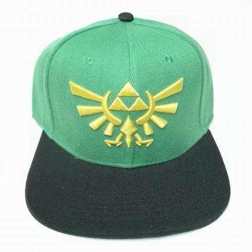 Gorra Plana Trifuerza PT The Legend of Zelda Videojuegos Fondo Verde