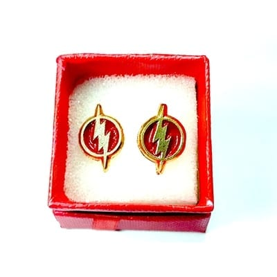 Aretes Logo Flash TooGEEK DC Comics