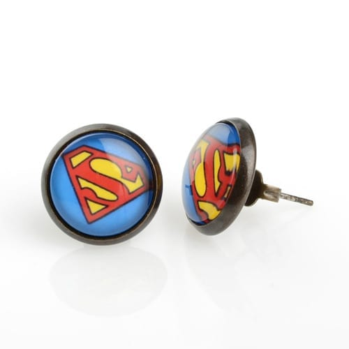 Aretes Logo Superman PT Superman DC Comics Aretes Redondos