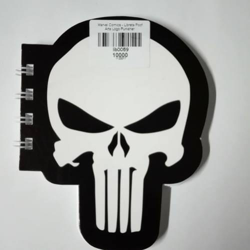 Libreta Logo Punisher Poof Arts Punisher Marvel