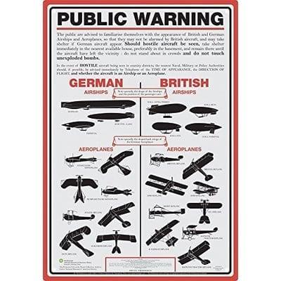 Señal Metálica Aquarius The Smithsonian Iconos Public Warning
