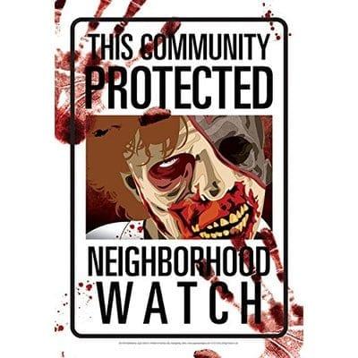 Señal Metálica Plate TCPNW Aquarius Zombies Terror