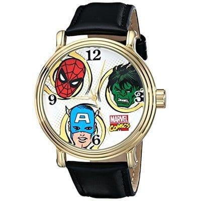 Reloj de Pulso Superheroes Accutime Marvel en Cuero