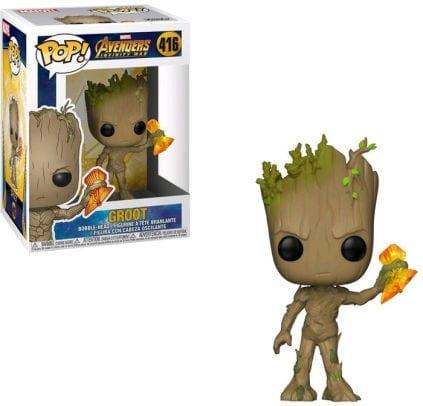 Figura Groot Funko POP Avengers Infinity War Marvel con Stormbreaker